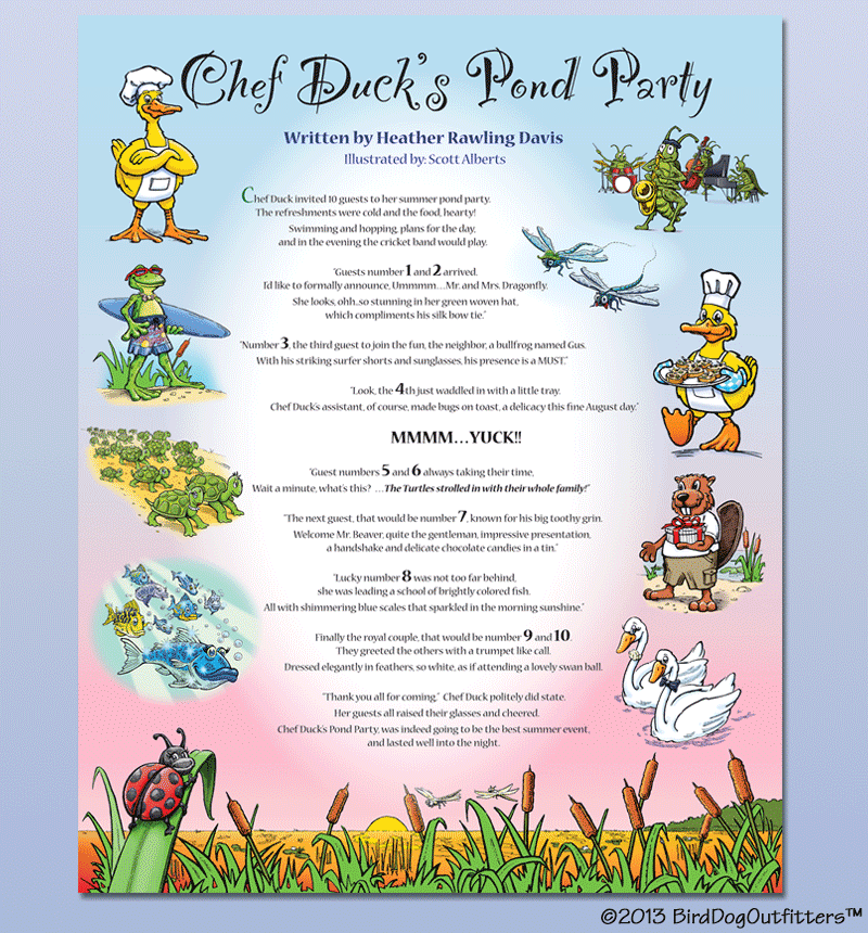 Chef Duck - Illustrated Poster - Visual Aids for Learning