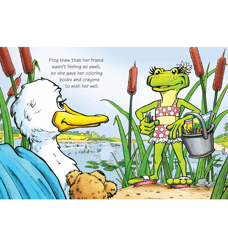 Duck and Frog - Book Illustration
