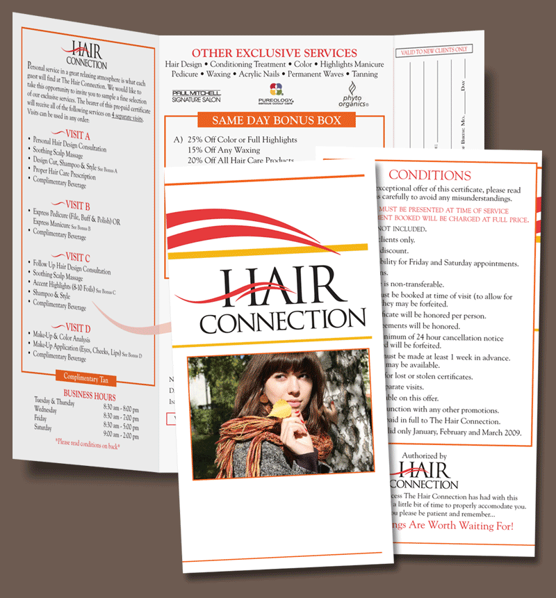 Hair Connection Promo Flyer