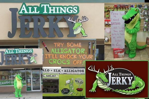 The brand is so much more than a logo — no matter how good that logo is! A business' reputation is built on lots of work, serving customers, and just getting out there in as many forms as possible. Ask the good people and critters at All Things Jerky!