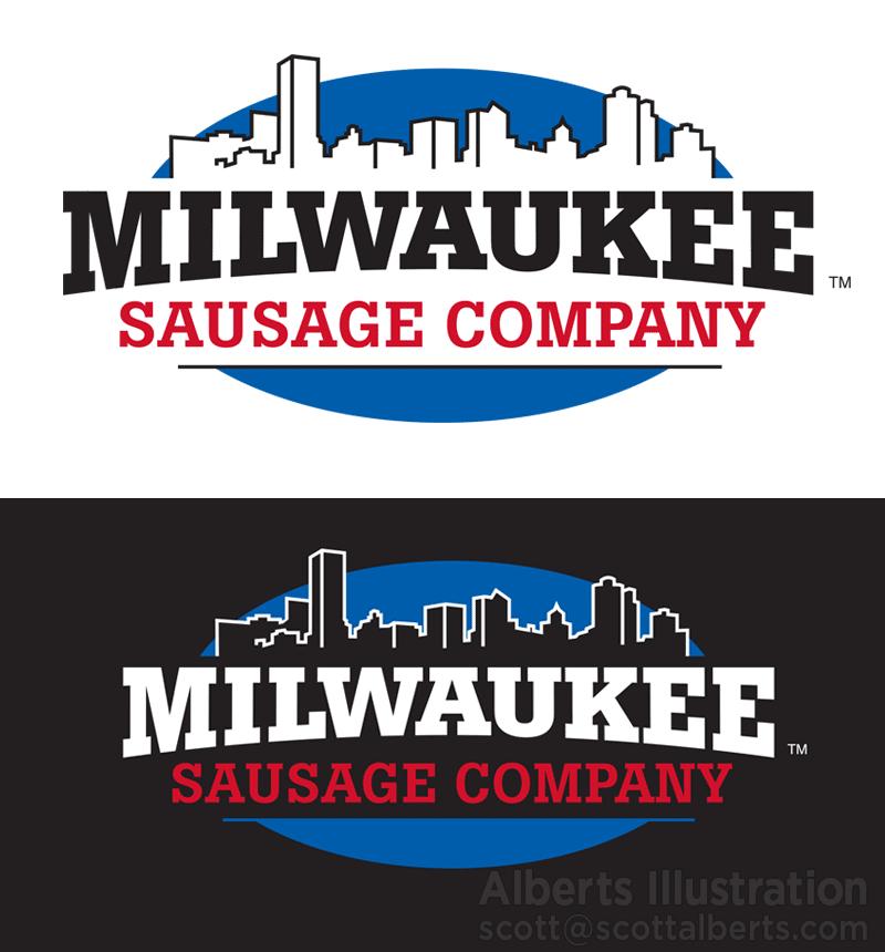 Logo Design - Milwaukee Sausage Company logo design - Alberts Illustration & Design