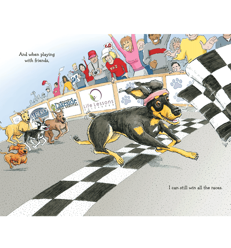 Book Illustration - 'A Day at the Races with Taz'