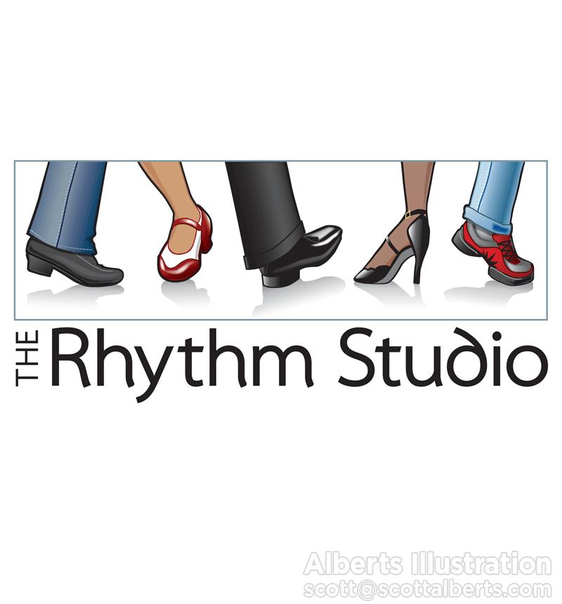 Logo Design - The Rhythm Studio - Alberts Illustration & Design - Digital Art