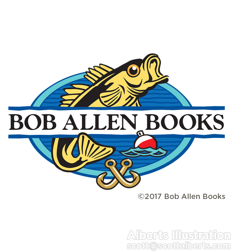 Logo design - Bob Allen Books - Alberts Illustration