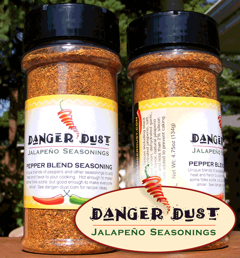 Danger Dust Spice Labels