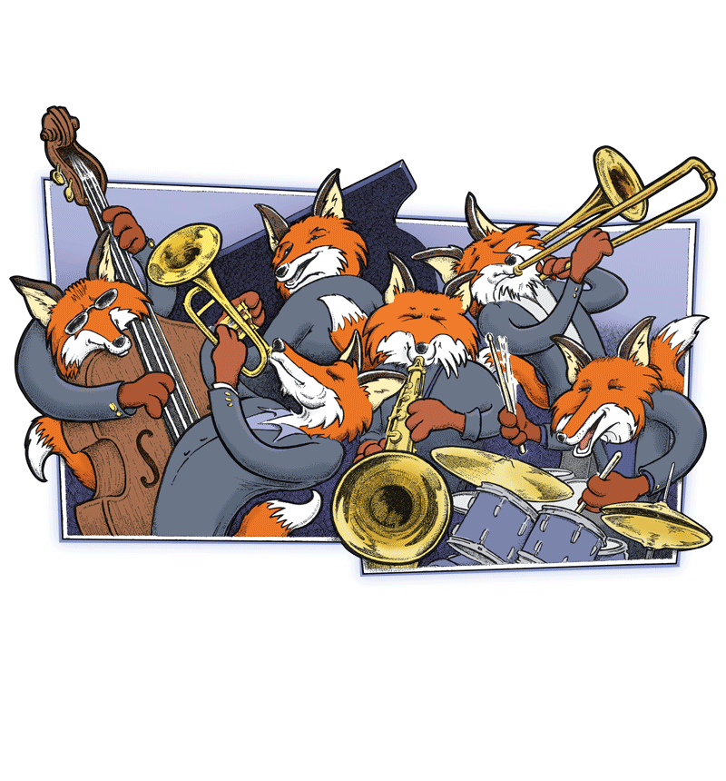 Freelance Illustration - Jazz Foxes - Alberts Illustration & Design