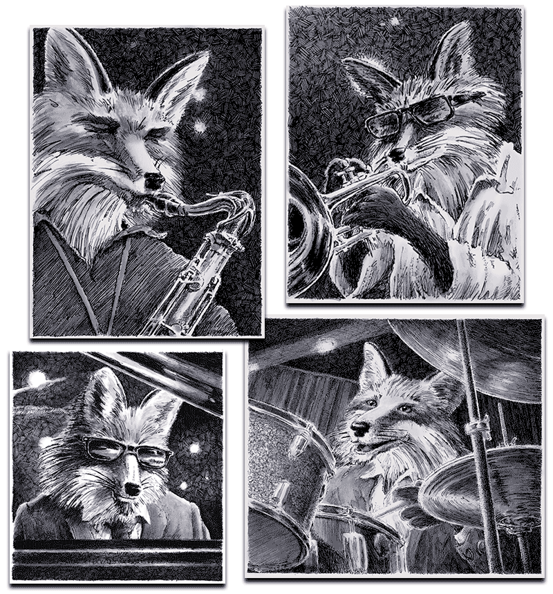Jazz Foxes - Looks Great in Black and White