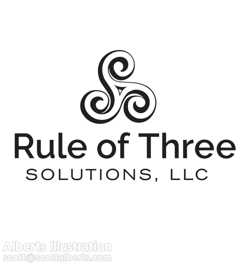 """Logo design for consulting business Rule of Three"""""""