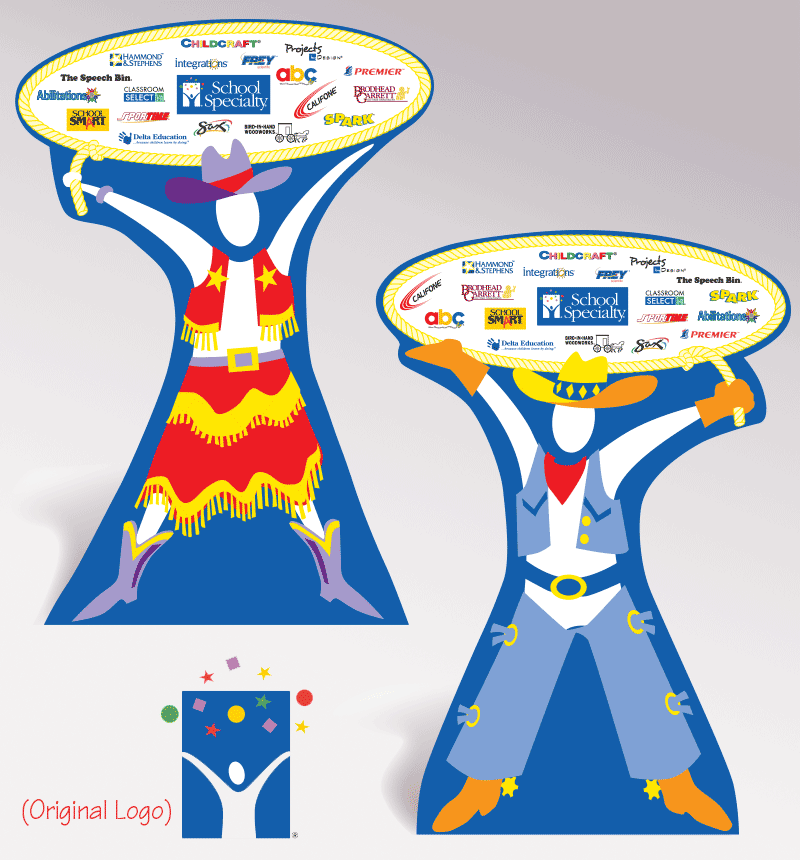 School Specialty Trade Show Cutout Figures - Visual Aids for Learning