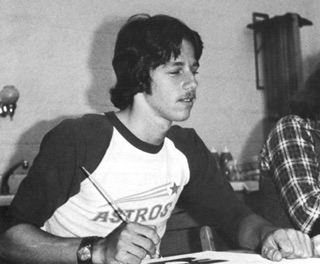 Photo of Scott Alberts as a young artist.