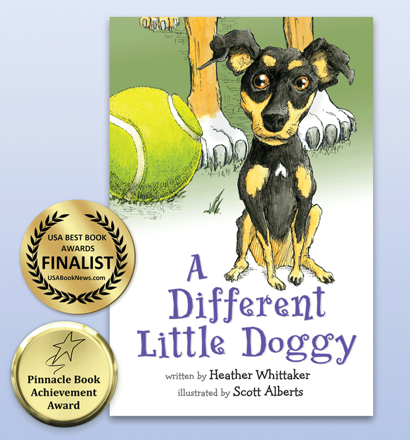 Book Illustration - A Different Little Doggy Book Cover - Alberts Illustration