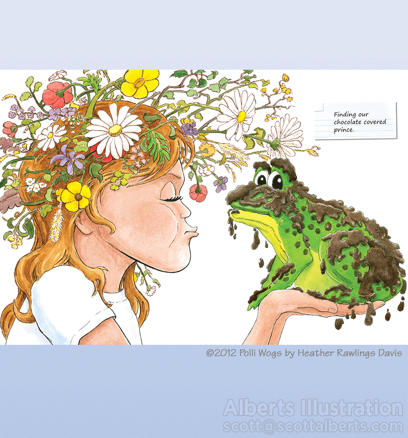 Freelance Illustration - Kissing Frog - Alberts Illustration