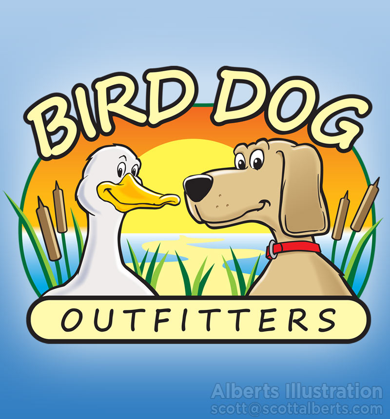 Logo Design Portfolio - Bird Dog Outfitters Logo - Alberts Illustration