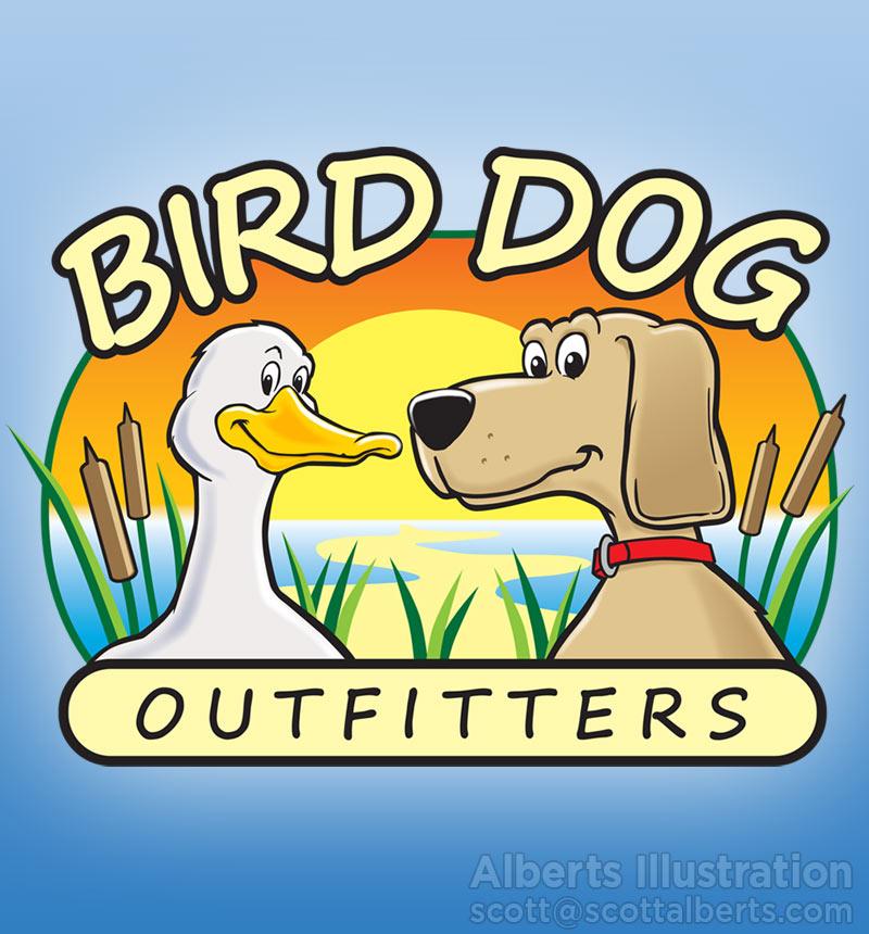 Logo Design Portfolio - Bird Dog Outfitters Logo - Alberts Illustration