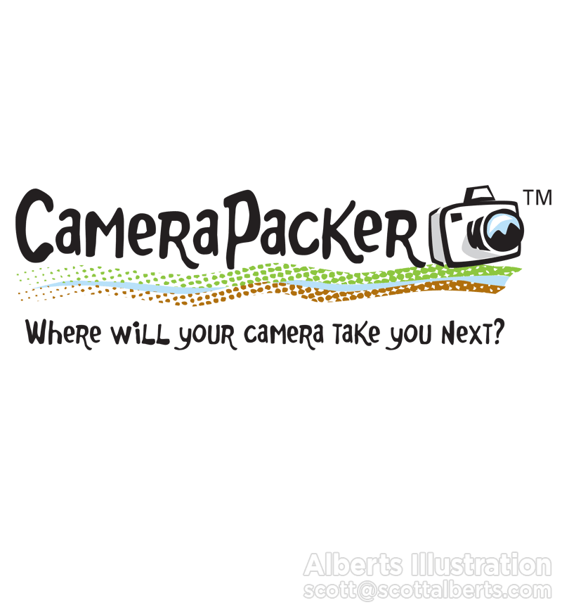 Logo Design Portfolio - Camera Packer Logo - Alberts Illustration