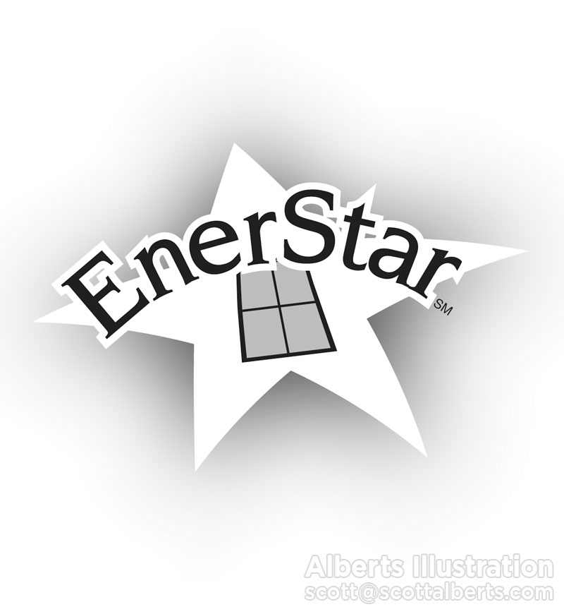 Logo Design Portfolio - Enerstar Logo - Alberts Illustration