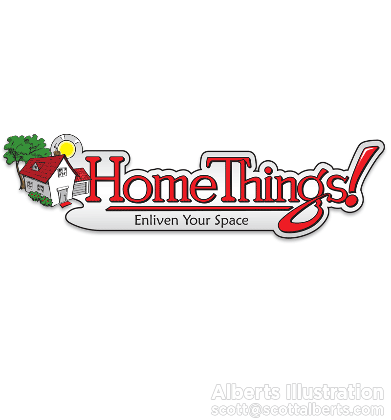 Logo Design Portfolio - Home Things! Logo - Alberts Illustration
