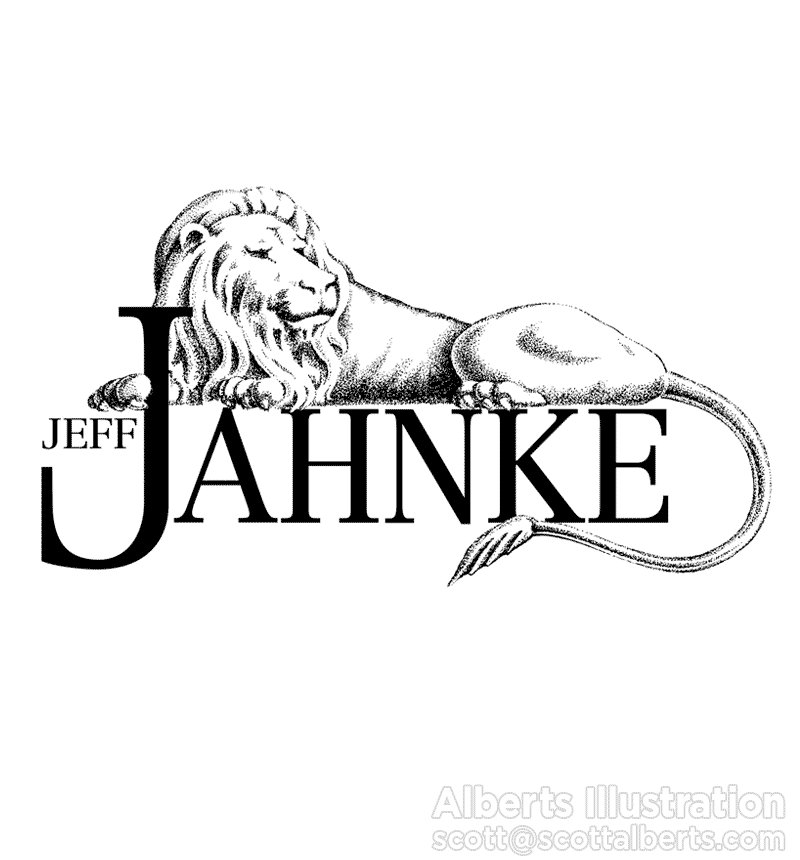 Logo Design Portfolio - Jeff Jahnke Logo - Alberts Illustration