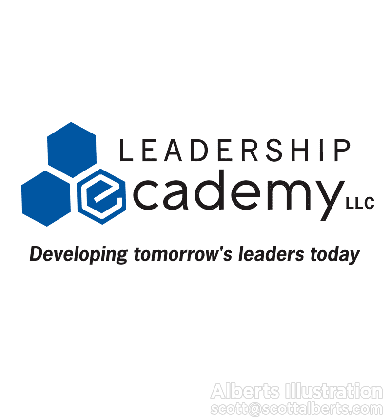 Logo Design Portfolio - Leadership Ecademy LLC Logo - Alberts Illustration