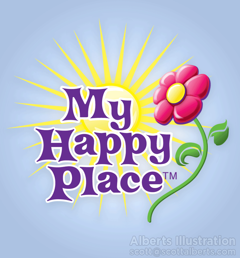 Logo Design Portfolio - My Happy Place Logo - Alberts Illustration