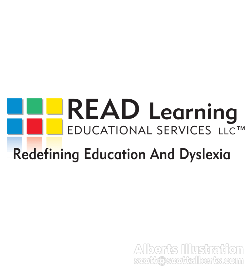 Logo Design Portfolio - READ Learning Educational Services LLC Logo - Alberts Illustration