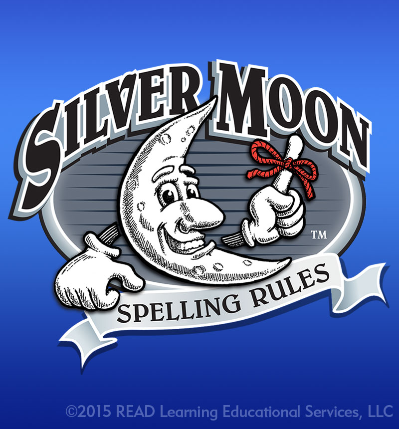 Logo Design Portfolio - Silver Moon Spelling Rules Logo - Alberts Illustration