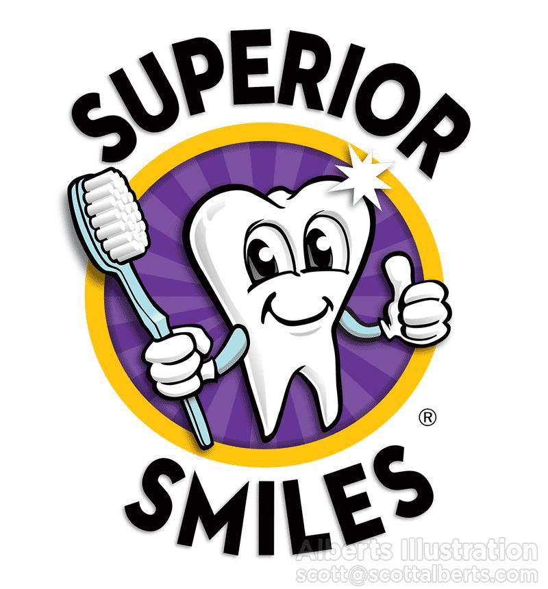 Logo Design Portfolio - Superior Smiles Logo - Alberts Illustration