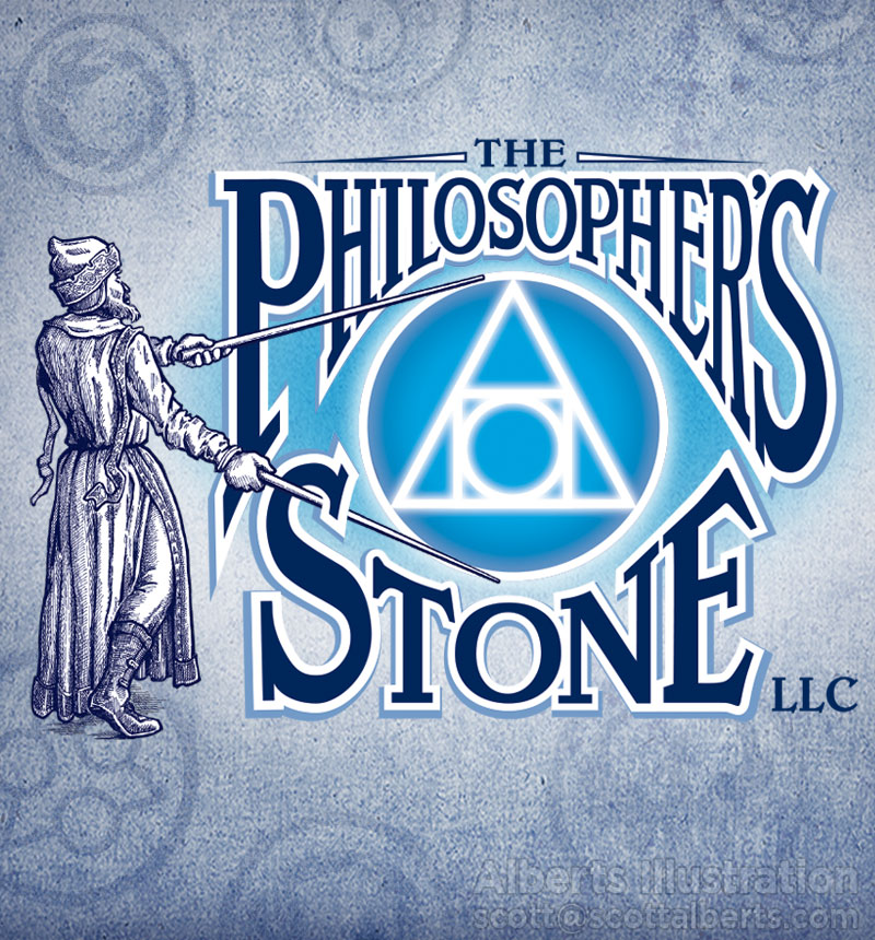 Logo Design Portfolio - The Philosopher's Stone LLC Logo - Alberts Illustration