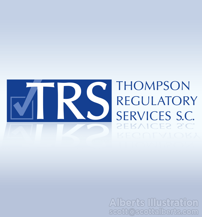 Logo Design Portfolio - Thompson Regulatory Services SC Logo - Alberts Illustration