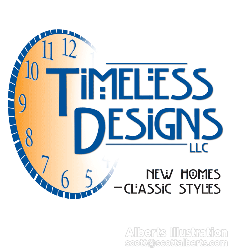 Logo Design Portfolio - Timeless Designs LLC Logo - Alberts Illustration