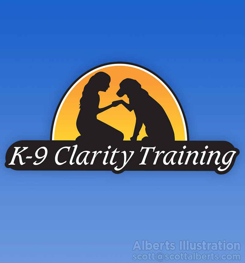Logo design - k-9 clarity training - alberts Illustration