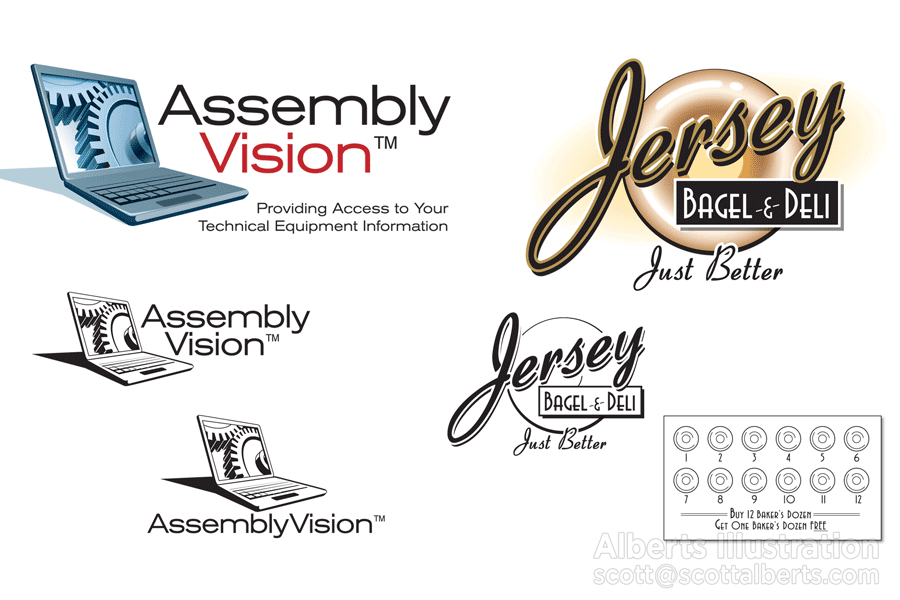 Logo Designers Should Provide Variations Your Logo. (c) Alberts Illustration & Design